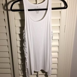 AE Ribbed Lace-up Tank (Soft & Sexy Style)
